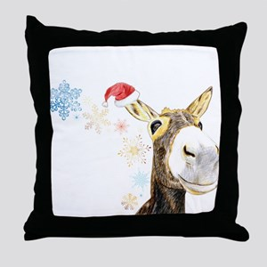 Christmas-Donkey Throw Pillow